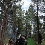 acampando en Estados Unidos