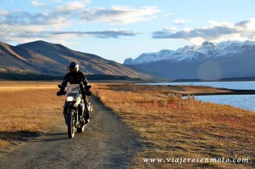 Patagonia Argentina en moto, Lago Roca, El Calafate